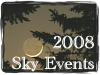 Sky events for 2008